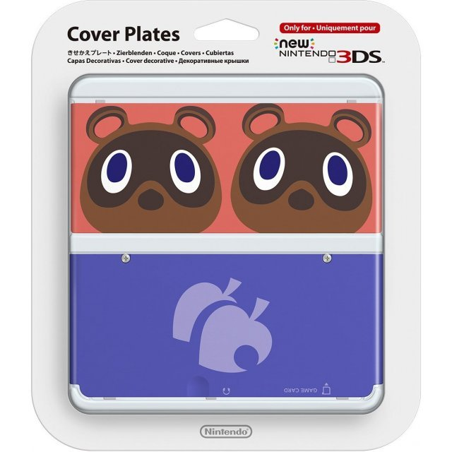 New Nintendo 3DS Cover Plates No.014 (Animal Crossing Mamekichi and Tsubukichi) Slight damage on package