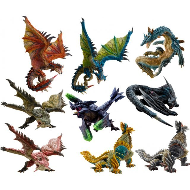 Capcom Figure Builder Standard Model Monster Hunter The Best Vol. 4, 5, 6 (Set of 9 pieces)