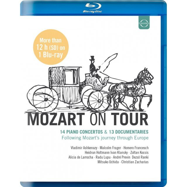 Mozart on Tour: 14 Piano Concertos & 13 Documentaries - Following Mozart's journey through Europe