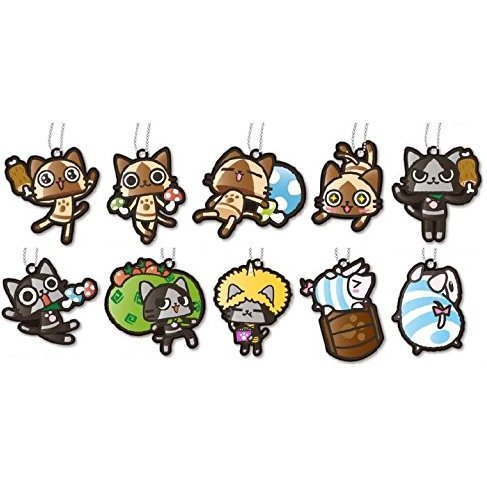 Monster Hunter Airou Rubber Mascot Collection (Set of 10 pieces)