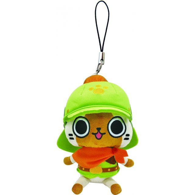 Monster Hunter Otomo Airou Mini Mascot Plush: Brave Cat