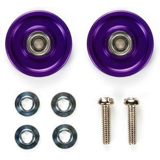 Mini 4WD Limited Edition Grade Up Parts: 13mm All Aluminum Bearing Roller (Violet)