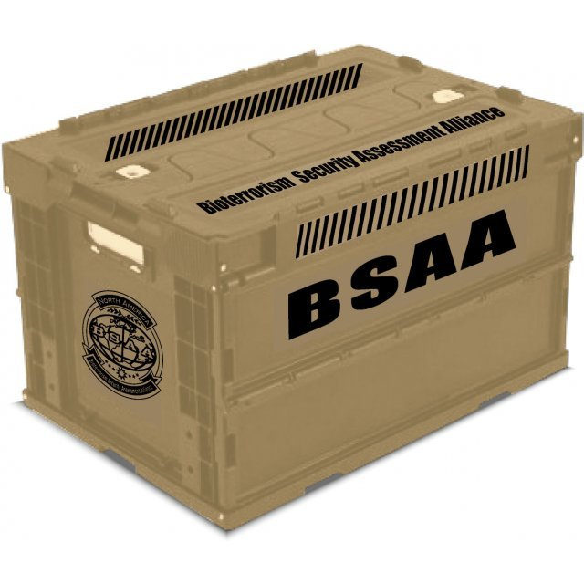 Biohazard Folding Container: BSAA
