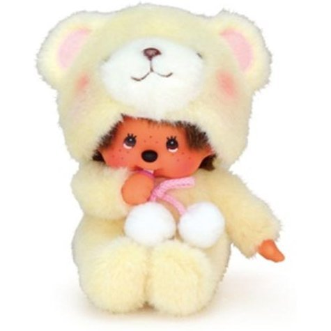 Animal Dress Monchhichi Plush: Bear