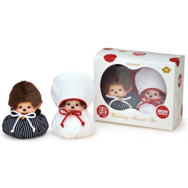 Monchhichi Wedding Mascot Set: Japanese Style