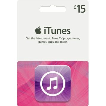 iTunes Card (GBP 15 / for UK accounts only)