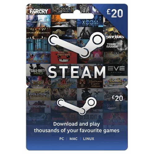 Steam Gift Card (GBP 20 / for UK accounts only)