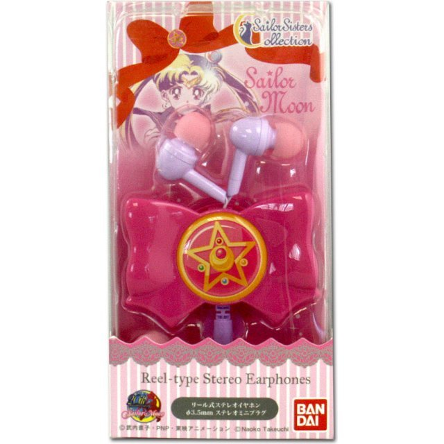 gourmandise Sailor Moon Ribbon Form Reel Type Stereo Earphone: Crystal Star Brooch