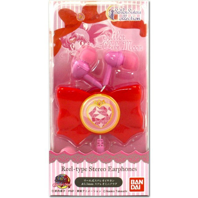 gourmandise Sailor Moon Ribbon Form Reel Type Stereo Earphone: Prism Heart Compact