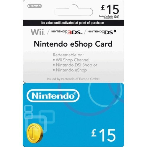 Nintendo eShop Card 15 GBP | UK Account