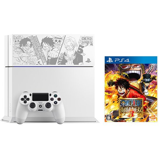 PlayStation 4 System [One Piece: Kaizoku Musou 3 Limited Edition] (Glacier White)