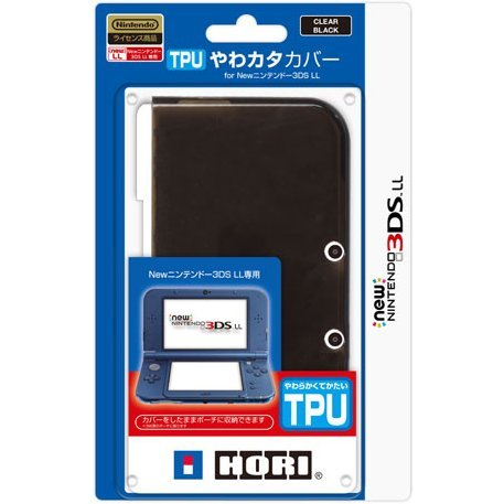 TPU Cover for New 3DS LL (Clear Black)