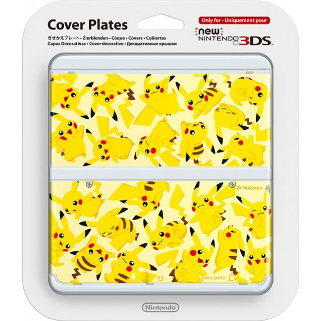 New Nintendo 3DS Cover Plates No.057 (Pikachu) (Re-run)