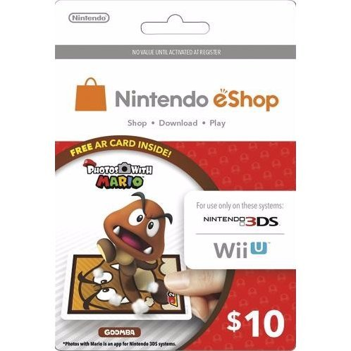 Nintendo Prepaid Card (US$10 / for US network only) [Goomba AR Card Edition]