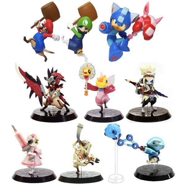 Capcom Figure Builder Standard Model Monster Hunter: Otomo Airou Selection (Set of 9 pieces)