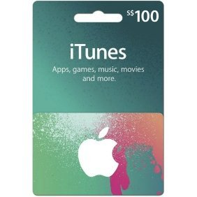 iTunes Card (SGD$ 100 / for Singapore accounts only)