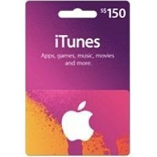 iTunes Card (SGD$ 150 / for Singapore accounts only)