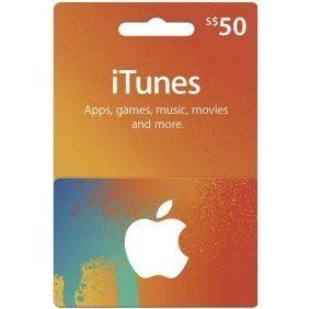 iTunes Card (SGD$ 50 / for Singapore accounts only)