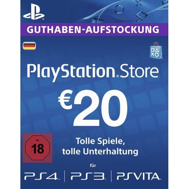 Playstation Network Card 20 EUR | Germany Account