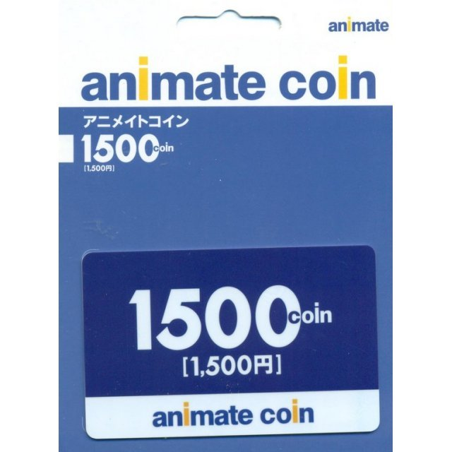 animate Coin Card 1500 Coin (1500 Yen)