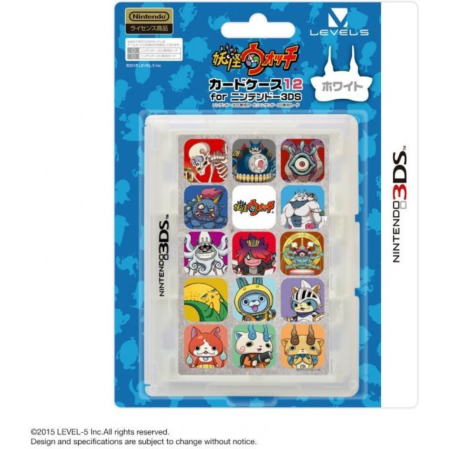 Youkai Watch Card Case 12 for 3DS (White)
