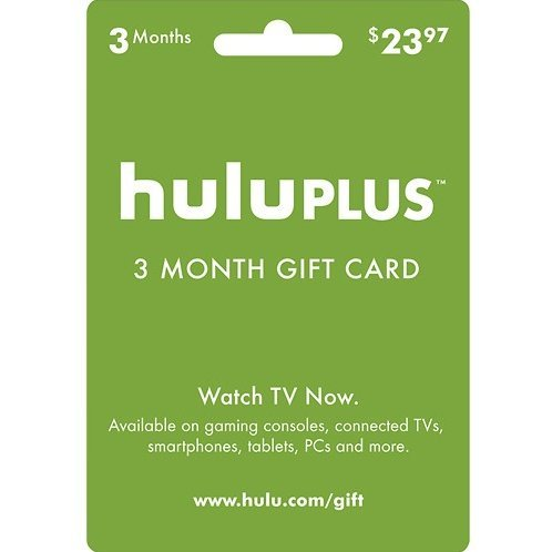 Hulu 3-month Subscription Gift Card (USD 23.97)