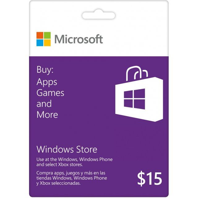 Microsoft Windows Store Gift Card (USD 15)