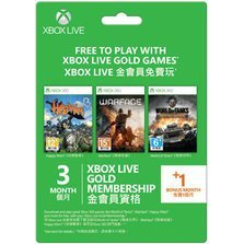 Xbox Live 3 Month+1 Month Subscription Gold Card