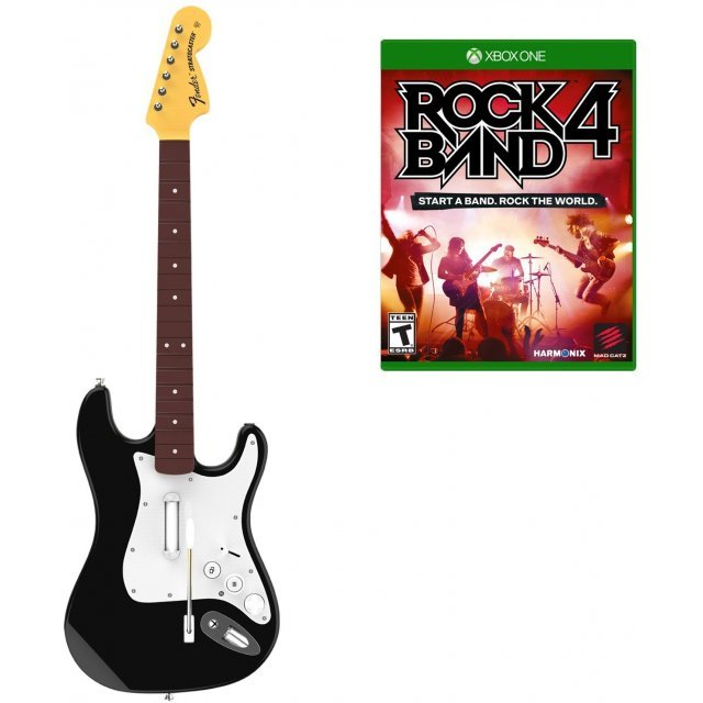 Rock Band 4 Fender Stratocaster Guitar Software Bundle