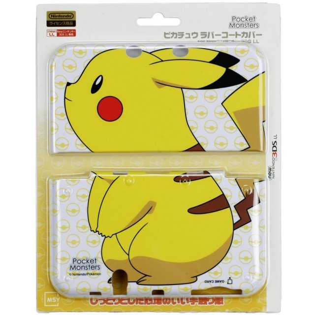 Rubber Coat Cover for New 3DS LL (Pikachu)