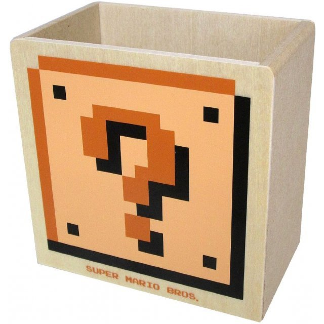Super Mario Bros. Wooden Die-cut Glove Compartment D (Hatena / Brick Blocks)