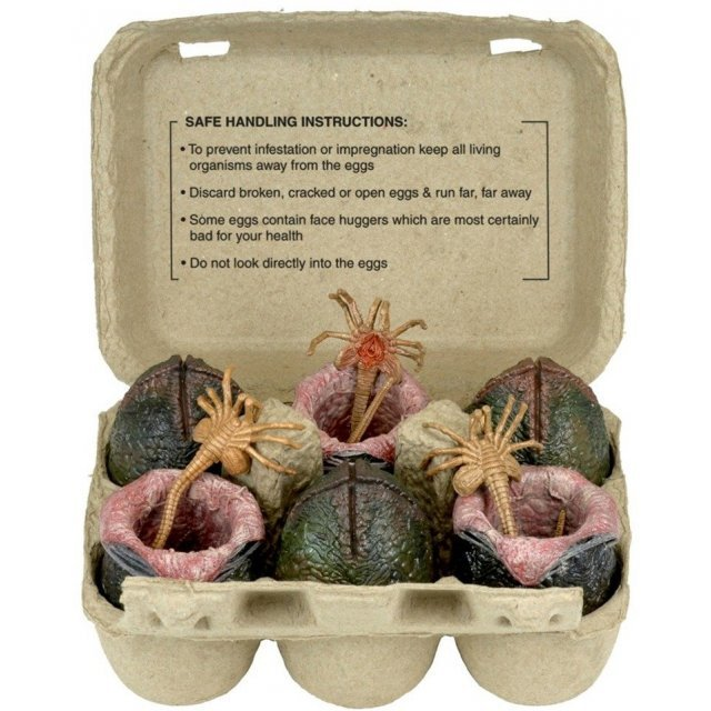 Alien Xenomorph Egg Collectible Carton Set