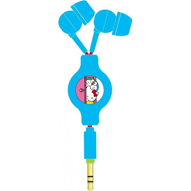 gourmandise Doraemon x Hello Kitty Reel Type Stereo Earphone: Door SANDR-05A