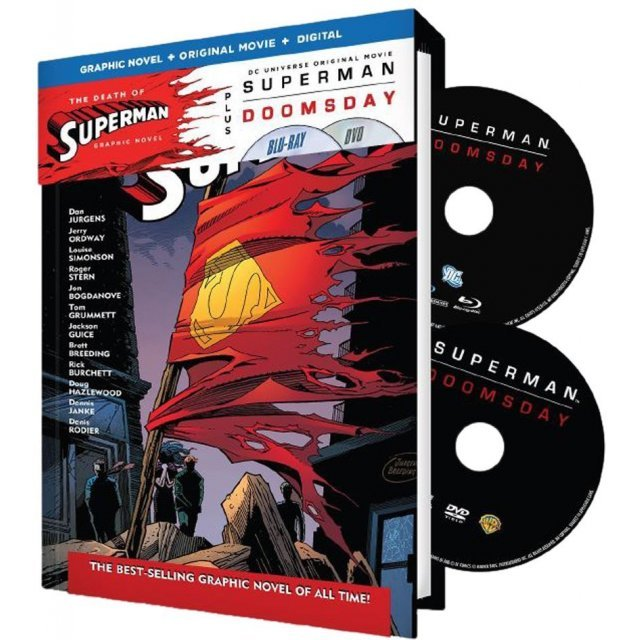 Superman: Doomsday / Death of Superman Graphic Novel [Graphic Novel+Original Movie+Digital HD]