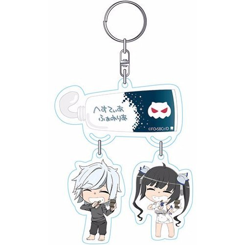Is It Wrong to Try to Pick Up Girls in a Dungeon?: Hestia-sama to Bell-kun no Yurayura Keychain