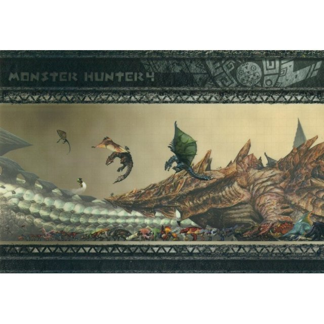 Monster Hunter 4 Monster Size Clear Sheet Ver.2