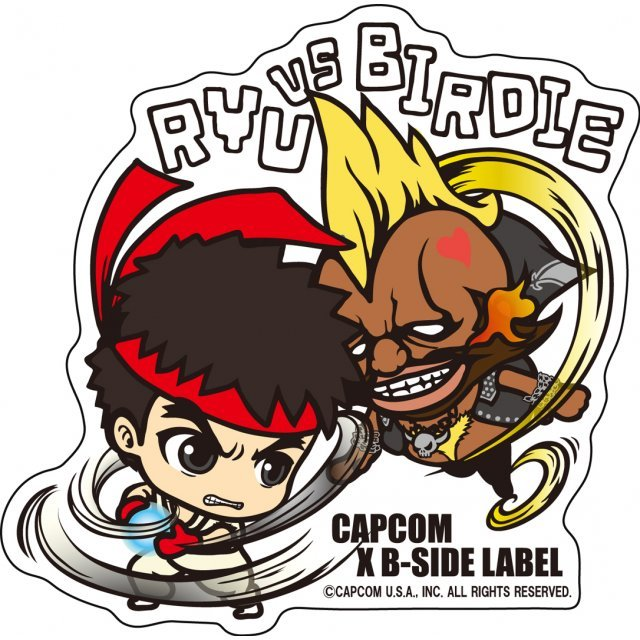 Capcom x B-Side Label Sticker L Street Fighter: Ryu Birdie
