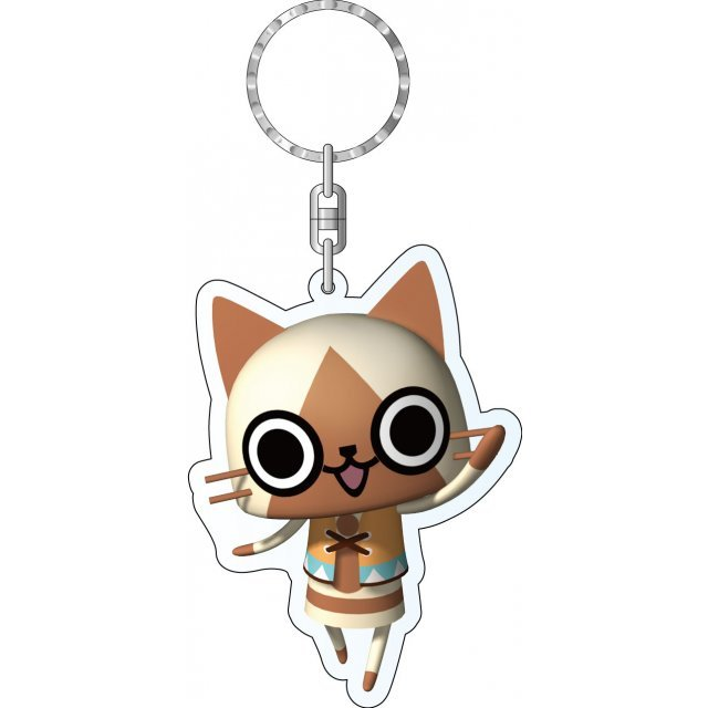 Monster Hunter Diary Poka Poka Airou Village DX Acrylic Keychain: My Airou