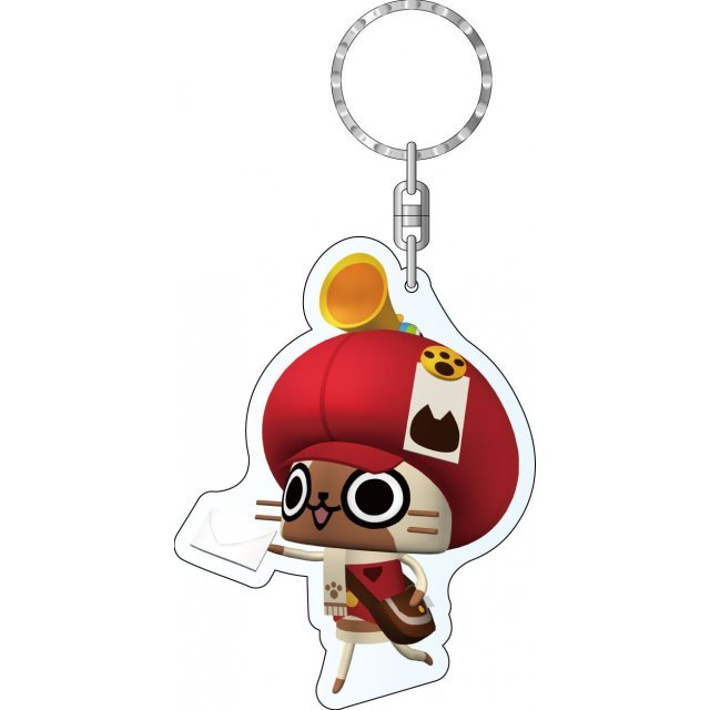 Monster Hunter Diary Poka Poka Airou Village DX Acrylic Keychain: Postman