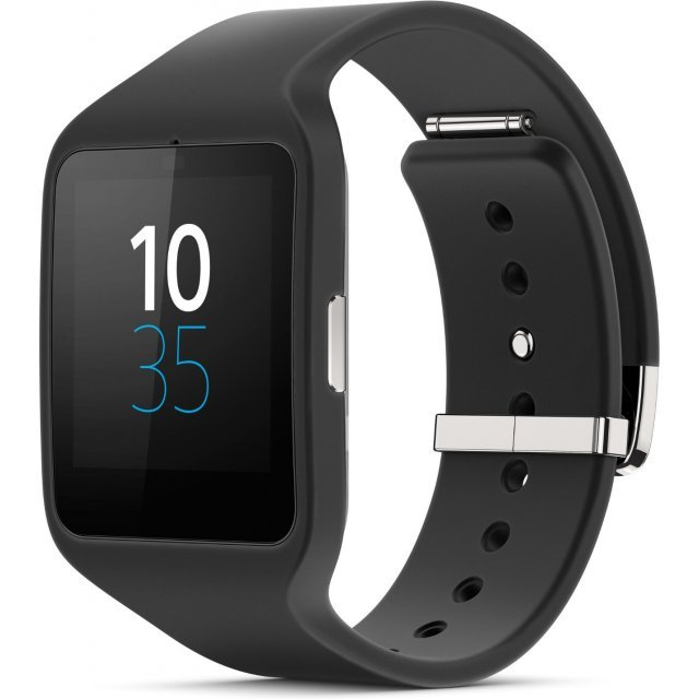 Sony SmartWatch 3 SWR50 Silicon Strap (Black)