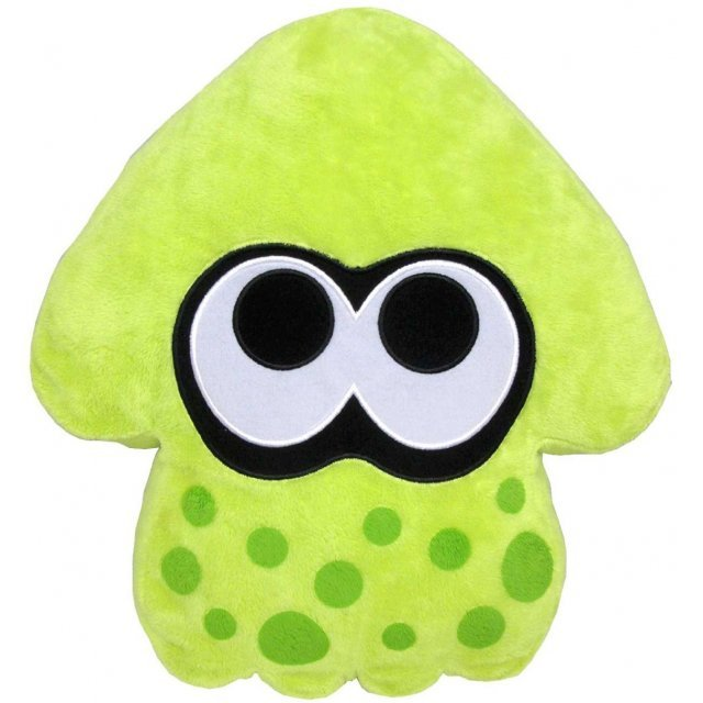 Splatoon Plush: Lime Green Splatoon Squid Cushion (Re-run)