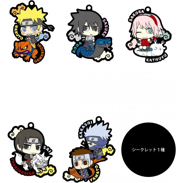 Naruto Shippuden Rubber Mascot: Naruto to Konoha no Nakamatachi dattebayo! (Set of 6 pieces)