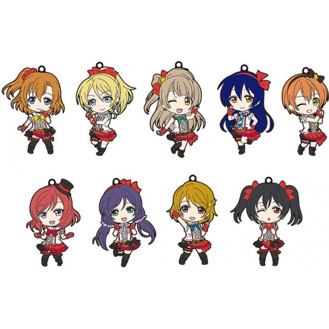 Nendoroid Plus Rubber Straps: Love Live! 01 (Set of 9 pieces)