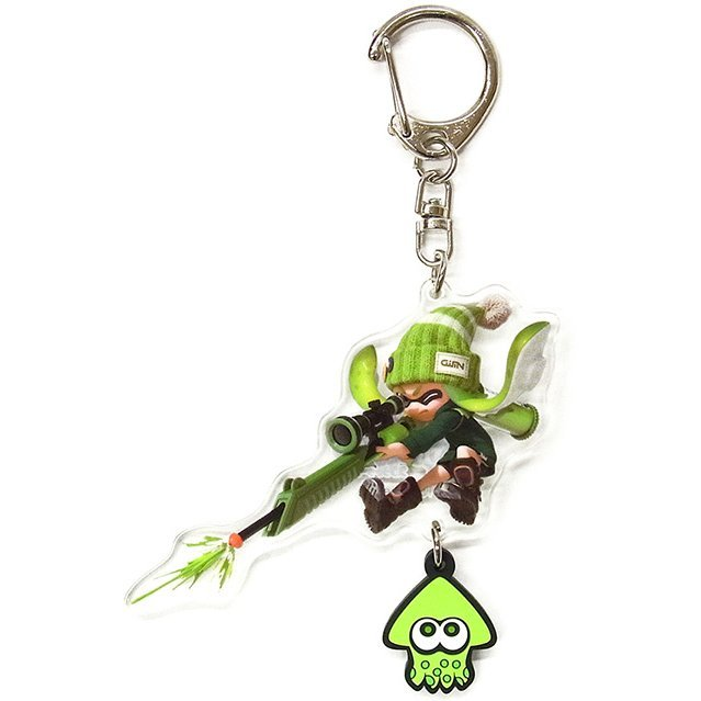 Splatoon Acrylic Key Chain with Squid Rubber: Girl (Charger)