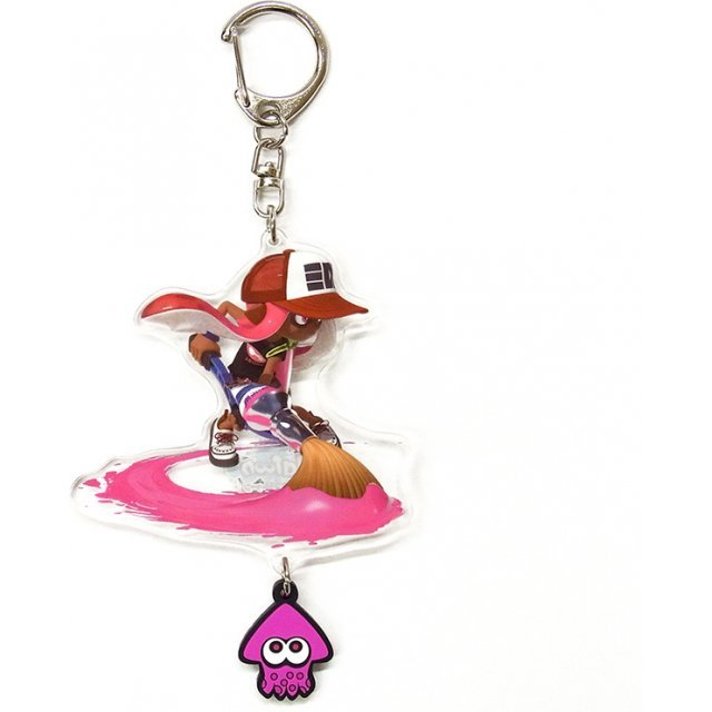 Splatoon Acrylic Key Chain with Squid Rubber: Girl (Pablo)