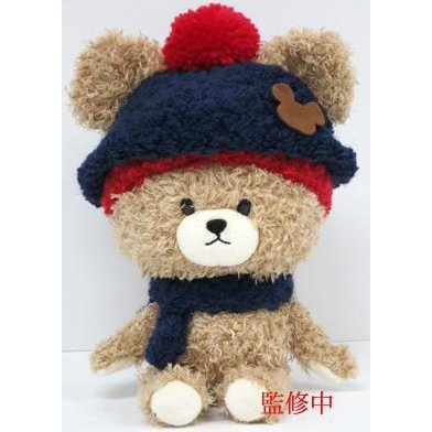 The Bear's School Jackie Closet Series Red/Navy Knit Hat Mokomoko Plush S: Mary