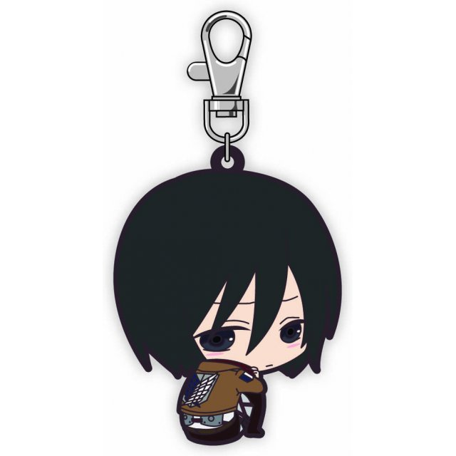 Attack on Titan Bocchi-kun Rubber Mascot: Mikasa (Re-run)