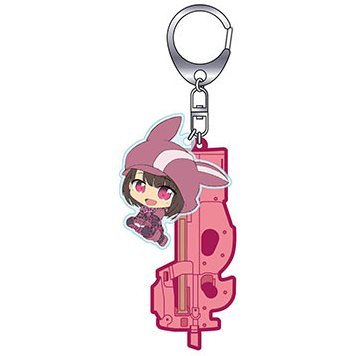 Sword Art Online Alternative Gun Gale Online Keychain: Tactical Weapon Girls T.W.G. Llenn & P-chan