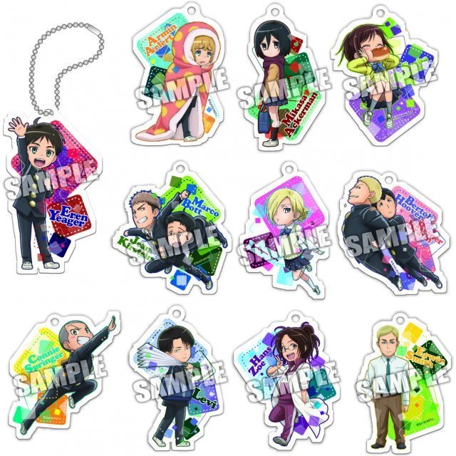 Attack on Titan Acrylic Key Chain: Junior High (Set of 11 pieces)