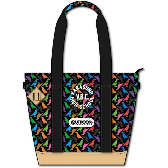 Haikyu!! x Outdoor Products Collaboration Tote Bag: Crow Pattern